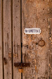 No Admittance Stock Images