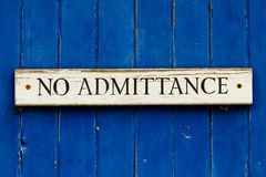 No Admittance Stock Image