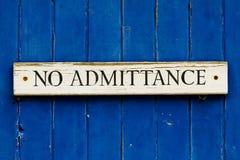Free No Admittance Stock Image - 24544871