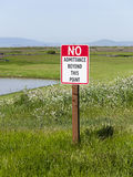 No Admittance sign for environmental conservation Royalty Free Stock Images