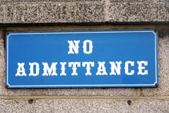 No Admittance sign Royalty Free Stock Images