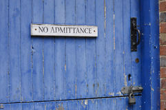 No admittance sign. Stock Image