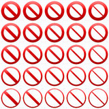 No Admittance signs Royalty Free Stock Images