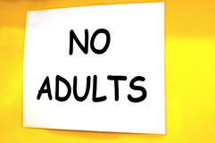 No adults sign Stock Photos