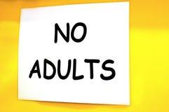 No adults sign Stock Photos