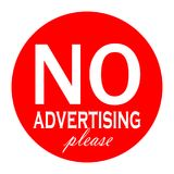 No advertising material vector label Royalty Free Stock Photography
