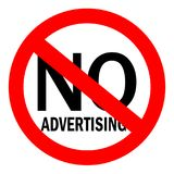 No advertising sign Stock Photo
