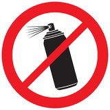 No aerosol spray sign royalty free illustration