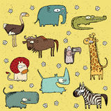 No. africain grunge 4 de collection d'animaux Illustration Stock