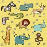 No. africano 2 da coleção dos animais do Grunge ilustração stock