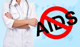 No aids symbol Royalty Free Stock Images