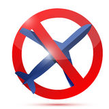 No air travel sign illustration design Royalty Free Stock Photography