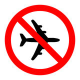 No airplane sign label vector Royalty Free Stock Photography