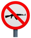 No AK-47 sign Royalty Free Stock Photos