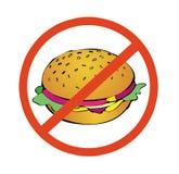 No al alto alimento de la caloría Foto de archivo