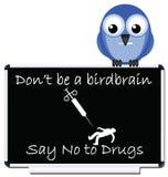 No al messaggio delle droghe Fotografia Stock Libera da Diritti