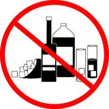No alcohol. Sign prohibition of drinking alcohol Royalty Free Stock Photo
