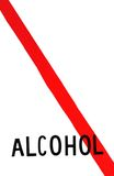 No Alcohol. Sign no alcohol red line meaning no stock images