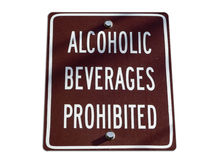 No alcohol. Isolated no-alcohol consumption sign royalty free stock photo