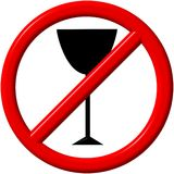 No alcohol. Sign - a computer generated image Royalty Free Stock Photos