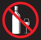 No alcohol drinking flat icon Stock Photo