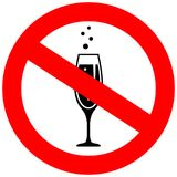 No alcohol drinks vector icon. Isolated on white background Royalty Free Illustration