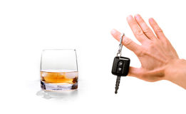 No alcohol and driving. Concept alert - no alcohol and driving Stock Photo