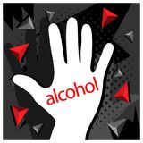 No Alcohol with hand Vector Icon Illustration. EPS file available. see more images related Royalty Free Illustration