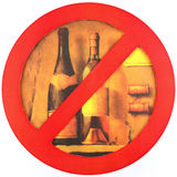 No alcohol isolate a white background Royalty Free Stock Photography
