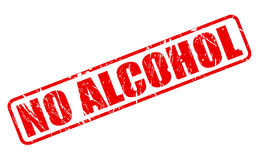 NO ALCOHOL red stamp text Stock Photos
