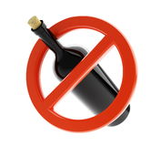 No alcohol sign. On a white background Royalty Free Stock Photography