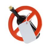 No alcohol sign. On a white background Stock Photography