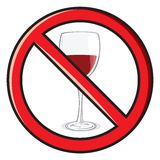 No alcohol sign Royalty Free Stock Image