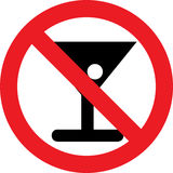 No alcohol sign Royalty Free Stock Images
