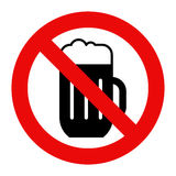 No alcohol sign royalty free illustration