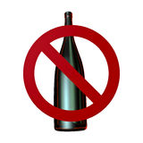 No alcohol sign Royalty Free Stock Photos