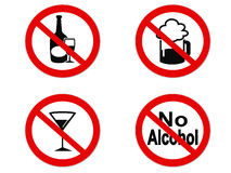 No Alcohol sign icon Royalty Free Stock Photo