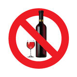 No alcohol sign. Isolated on white background. Vector illustration royalty free illustration