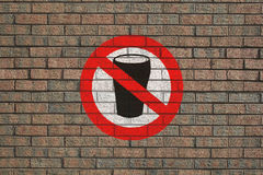 No Alcohol sign on wall Stock Photos