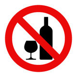 No alcohol sign Stock Photography