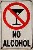 No Alcohol Signage. On Beach Park Riverbank Stock Image