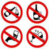 No alcohol symbol Royalty Free Stock Images