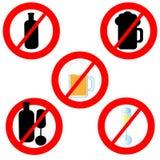 No alcohol symbols isolated on white background. Vector illustration vector illustration
