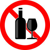 No alcohol. Vector illustration of no alcohol icon Royalty Free Stock Photography