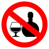No alcoholic drinks sign Stock Photos