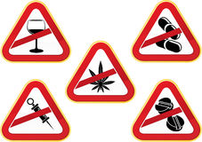 No all'accumulazione delle droghe Fotografie Stock Libere da Diritti