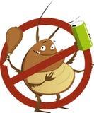 No all'infestazione del parassita illustrazione di stock
