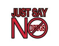 No alle droghe. Fotografia Stock Libera da Diritti