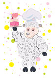 No amor com o bolo do cordeiro Imagens de Stock Royalty Free