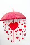 No amor (vermelho heart-shaped) imagem de stock royalty free